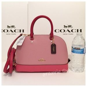 New Coach Colorblock Leather Mini Sierra Satchel